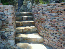 natural stonework stairs